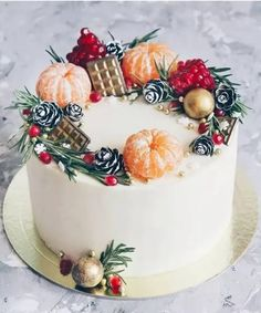 Christmas Cake Decorations, Christmas Desserts, Christmas Treats, Christmas Baking, New Year Cake Decoration, Chocolate Christmas Cake, Christmas Cake Designs, Birthday Decorations, Cupcake Cake Designs