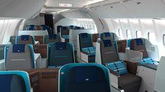 Blick in die Kabine der neuen World Business Class  Quelle: KLM