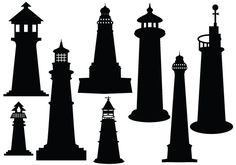 Ideal Lighthouse Silhouette Vector Download #Silhouette #clipart #lighthouse