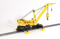LEGO Ideas - Railway Crane, Goliath Lego Train Tracks, Lego City Train, Lego City Sets, Lego Sets, Lego Technic, Steampunk Lego, Lego Crane, Technique Lego, Crane Construction