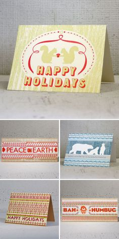 hammerpress holiday cards - FS (two cats with a heart)