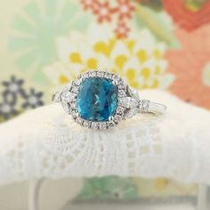 Fresh from the shop is our lotus pattern blue zircon ring in 18K white gold.  Sure to bring some serenity to the week. #zomacolor #blue #bluezircon #zircon #finejewelry #finegems #rings #ringblings #soothing #calm #lotus #highjewellery #fashionista #luxury #luxurylifestyle #serenity #mondayblues #bluesbreaker