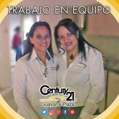 Eva y Belkys dos oficinas #Century21 un mismo sentir y compromiso.  Alta Vista y Guayana Plaza. Más audaces más capaces más rápidos.  #bienesraices #inmuebles #Guayana #puertoordaz #realestate #realtor #realtorlifestyle #sinergia #teamwork