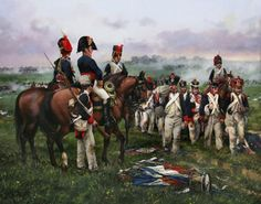 The last work of the master Ferrer-Dalmau showing French soldiers captured after the Battle of Vitoria (June the last fought on Spanish soil during the War of Independence. Military Art, Military History, Military Uniforms, Late Modern Period, Waterloo 1815, War Film, Film Inspiration, French Empire, French Army