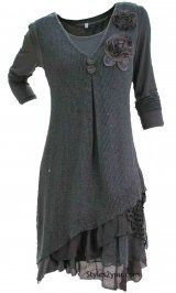 MORE IN STOCK... HURRY.. When they are gone they are GONE... Delilah Dress in Gray
