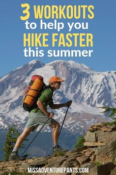 These hiking workouts will help you to get in shape for your summer adventures. Check out this article to learn the best exercises to build hiking speed and stamina. Hiking Dogs, Camping And Hiking, Hiking Gear, Hiking Backpack, Hiking Trails, Travel Backpack, Workout Days, Workout Warm Up, Hard Workout