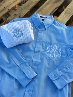 Bridesmaid Gifts Blouse and Monogrammed Spa Bag by ThePaleMoonBoutique on Etsy