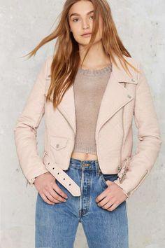Nasty Gal Atomic Vegan Leather Jacket - Blush | Shop Clothes at Nasty Gal!