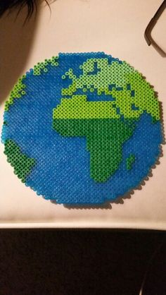 Planet earth perler bead!