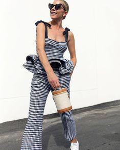 Gingham and peplum // Saturday style with Silvia Tcherassi // Atlantic-Pacific Chic Outfits, Summer Outfits, Rock Outfits, Emo Outfits, School Outfits, Winter Outfits, Blair Eadie, Atlantic Pacific, Rainbow Outfit