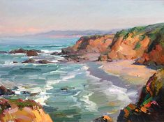 Ovanes Berberian Waterhouse Gallery Artist Waterhouse Gallery Landscape and Still Lfe Artist bold use os color Waterhouse Gallery Santa Barbara California Easy Landscape Paintings, Landscape Drawings, Landscape Pictures, Seascape Paintings, Cool Landscapes, Beach Paintings, Pastel Landscape, New Art, Photos