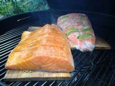 Lachs auf Zedernholz-Planken im Kugelgrill Grill N Chill, Bulgur Salad, Kamado Joe, Carne Asada, Bbq Party, Preserves, Grilling, Food And Drink, Low Carb