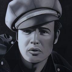 Marlon Wonderful portrait of Marlon by Marlon Brando, Beauty Industry, Pop Art, Stephane, Portrait, Face, Artists, Art Pop, Men Portrait