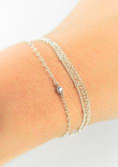 Hoku bracelet - silver solitaire bracelet, sterling silver chain bracelet, delicate silver bracelet, dainty silver bracelet, maui, hawaii https://www.etsy.com/listing/101793461 http://instagram.com/kealohajewelry