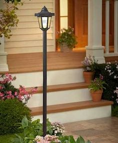 128 best post lights for yard images on pinterest backyard ideas solar powered lamp post lights google search aloadofball Choice Image