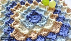 MyPicot | Free crochet patterns Crochet Square blanket pattern