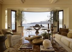Contemporary Living Room in US by Suzanne Tucker/Tucker & Marks