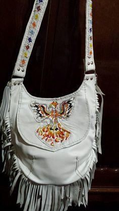 phoenix beaded charm bag