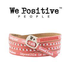 Bracciale We Positive rosso HD014 Bracciali We Positive W+ GioielliVarlotta