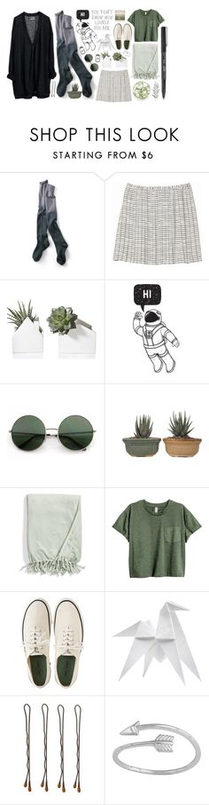 """i'll love the world like i should"" by spinkygiraffes ❤ liked on Polyvore featuring MTWTFSS Weekday, Banana Republic, Kennebunk Home, Margaret Howell, Hermès, Vidal Sassoon, Midsummer Star, Polaroid, Winter and GREEN"