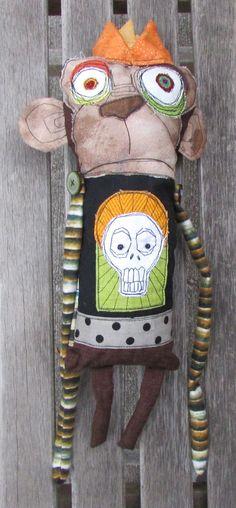 The Jazz Poet Monkey King handmade ooak art doll by monstermaud