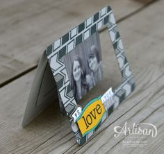 Love this framed photo card made with PLxSU products!