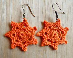 Earrings - Crocheted Orange Orange Things, Crochet Earrings, Jewelry, Fashion, Moda, Jewlery, Jewerly, Fashion Styles, Schmuck