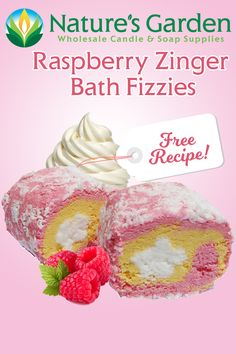 Free Raspberry Zinger Bath Fizzies Recipe by Natures Garden