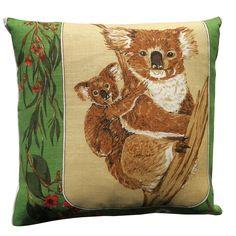 Vintage Retro Australian Wildflowers Cushion | Merry-Go-Round on Madeit