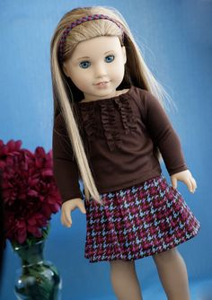 Ropa American Girl, American Girl Dress, American Girl Crafts, American Doll Clothes, Sewing Doll Clothes, Girl Doll Clothes, Doll Clothes Patterns, Girl Dolls, Ag Dolls