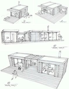 log cabin design drawings