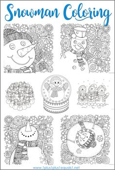 Trendy music therapy activities for adults coloring pages Ideas Winter Activities For Kids, Activities For Adults, Winter Crafts For Kids, Holiday Activities, Winter Fun, Winter Theme, Snowman Coloring Pages, Coloring For Kids, Coloring Pages For Kids