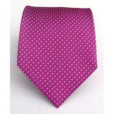 Amazon.com: 100% Silk Woven Fuschia Pin Dot Tie: Clothing