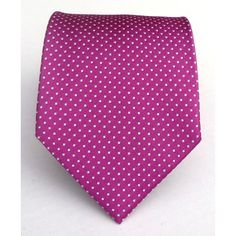 Amazon.com: 100% Silk Woven Fuschia Pin Dot Tie: Clothing