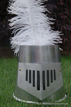 DIY Knight Helmet from a Popcorn Bucket