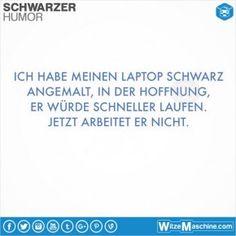 Schwarzer Humor Witze Sprüche #5 - Schwarzer Laptop