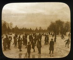 Spokane City Parks, Lantern Slides, is a collection at the Washington State Archives, Digital Archives. Spokane Washington, Washington State, Digital Archives, Old Photography, Banff, Park City, Skating, Lantern, Parks