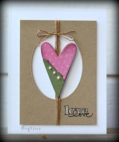 CAS224 Heart by Biggan - Cards and Paper Crafts at Splitcoaststampers