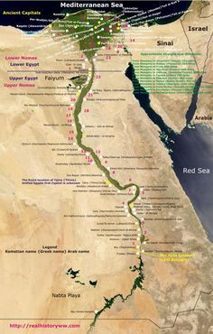 Map of Nile and Egypt obsessed with maps Pinterest