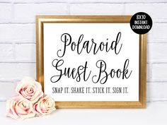 Photo Guest Book Sign In Wedding Sign Guest Book 8x10