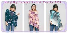 LOVE these ponchos from Brightly Twisted!! SO diverse and perfect for any occasion!!