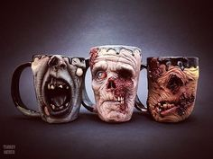 The original trio....Syd the Screamer, Slow Joe and Gross Gus  #throwbackthursday ------------------------------- #ceramics #walker #pottery #creepy #dark #coffeeaddict #horrorlover #horrorjunkie #nightmare #horrorfan #twd #stoneware #horror #coffee #horroraddict #undead #thewalkingdead #zombiemug #coffeemug #mug #coffeelover #coffeebreak #zombie #zombies #mugsofinstagram #mugaddict #mugcollection
