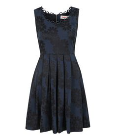 Look what I found on #zulily! Navy Scallop Daisy Noviaz Sleeveless Dress by Louche #zulilyfinds