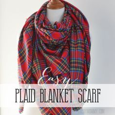 Easy-Plaid-Blanket-Scarf-Tutorial