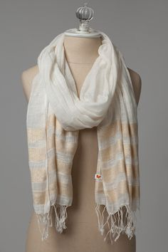 Cream and Gold – Soulscarf. scarves for charity