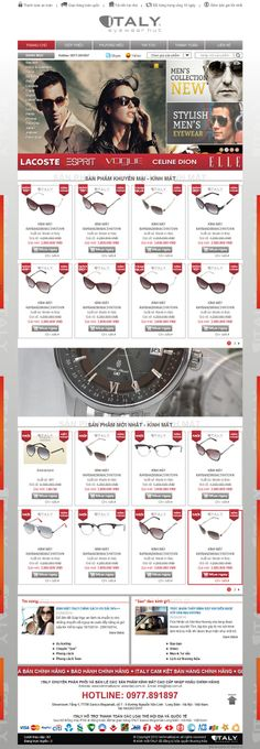 giao diện website bán hàng hiệu