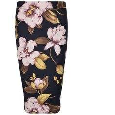 By Malene Birger Floral Printed Pencil Skirt ($105) ❤ liked on Polyvore featuring skirts, black, floral print skirt, floral bodycon skirt, midi skirt, floral print midi skirt and pencil skirt