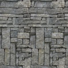 6 Seamless Stone Textures walls, ground and rock.