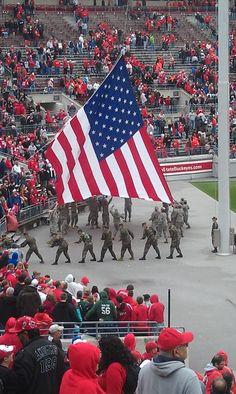 <3....God Bless America...taken at the 2012 Spring Game, Ohio Stadium, Columbus Ohio....Home of the Ohio State Buckeyes