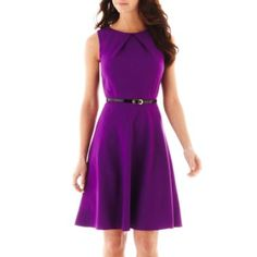 Alyx® Sleeveless Belted Fit-and-Flare Dress   found at @JCPenney    BRIDESMAIDS
